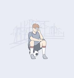Sport training game football depression vector