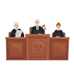 supreme court tribune judges in session judge vector image