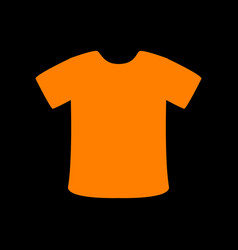 T-shirt sign orange icon on black background old vector