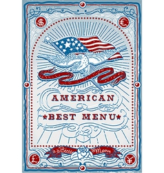 Vintage Graphic Page for American Menu vector