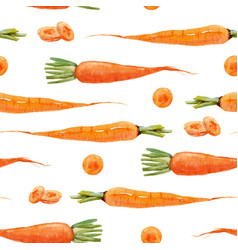 watercolor carrot pattern vector image