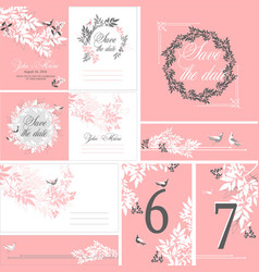 wedding printing set vector image