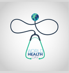 world health day concept 7 april 2018 medicine vector image