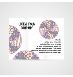 Abstract brochure with hand drawn ornament vector image