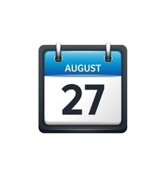 August 27 Calendar icon flat vector image