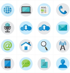 Flat Icons For Web Icons and Internet Icons vector image vector image