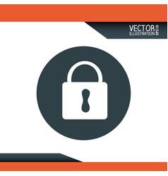 padlock icon desig vector image