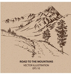 Road to the Mountains vector image