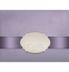 Vintage background with ornament frame vector image vector image