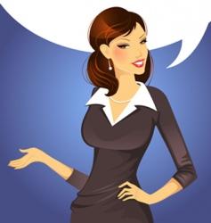 woman speak vector image