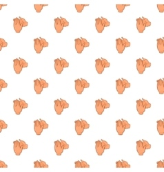 Applause pattern cartoon style vector image vector image