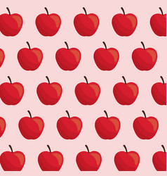 apple fruit seamless pattern vector image