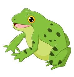 Cartoon happy frog vector image