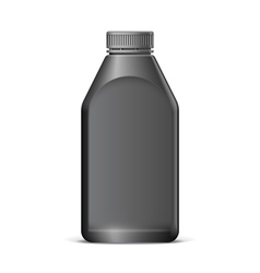Cool Realistic Black plastic bottle vector image vector image