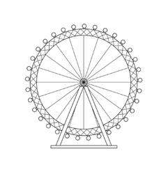 Ferris Wheel London Thin Line vector image