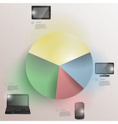 Paper chart for electronic devices statistics vector image vector image
