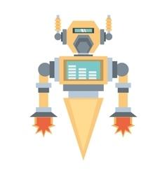 robotic mechanical engineering rocket vector image