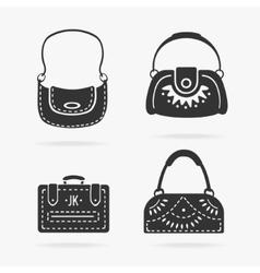 Set female bags vector image