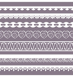 set of laces vector image vector image