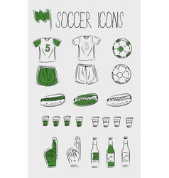 soccerfootball icons vector image vector image