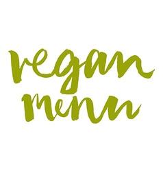 Vegetarian menu Calligraphy Ink and brush vector image
