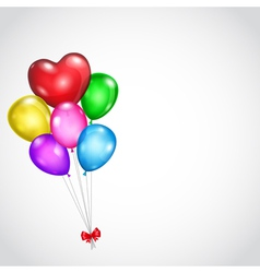 Background with bunch of colored balloons vector image vector image