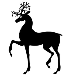 decorated deer vector image vector image