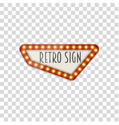 Light realistic signage template vector