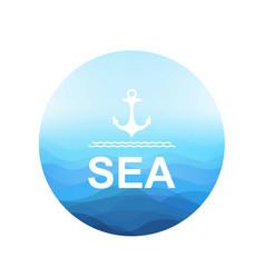 Sea poster vector
