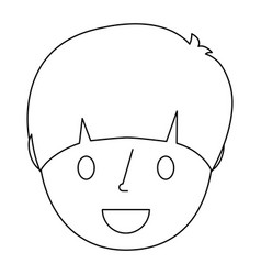 young face boy smiling with party hat vector image