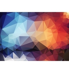 colorful pattern of angular geometric shapes vector image vector image