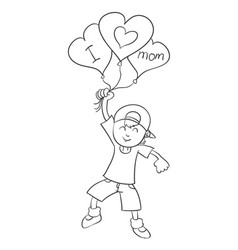 mother day theme with kids character vector image
