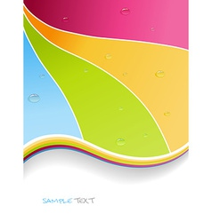 Water drops on colorful background art vector image