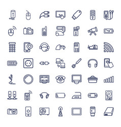 49 device icons vector