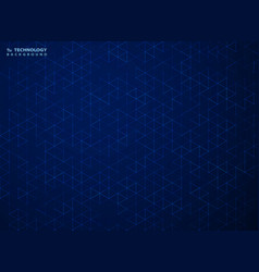 abstract blue hexagon pattern technology vector image