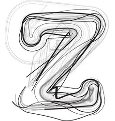Abstract doodle letter z vector