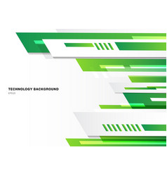 Abstract technology style green geometric bright vector