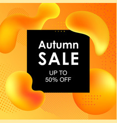 autumn sale design with colorful gradient shapes vector image