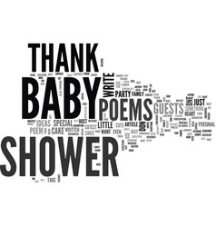 baby shower thank you poems special gifts from vector image