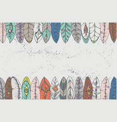 background with decorative feathers vector image
