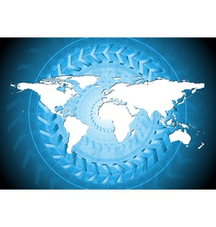 Blue hi-tech background vector image