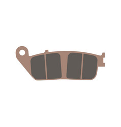 Brake pad motorcycle isolated flat vector