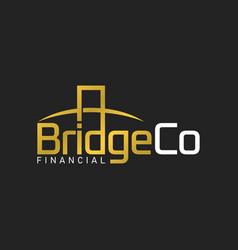 bridge corporation logo design template luxury vector image