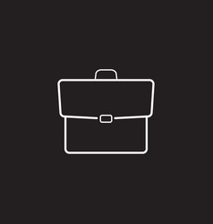 Briefcase line icon portfolio outline logo vector