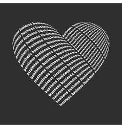 Business heart2 vector image vector image