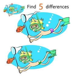 Cartoon character swimmer vector image