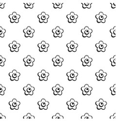 choco flower pattern seamless vector image