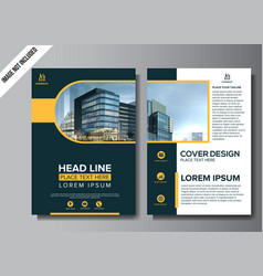 corporate flyer layout template vector image