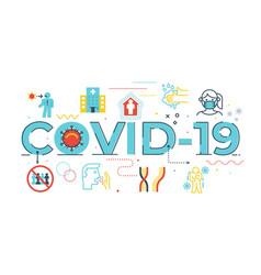 covid19-19 vector image
