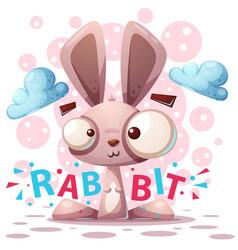 cute rabbit character - cartoon vector image